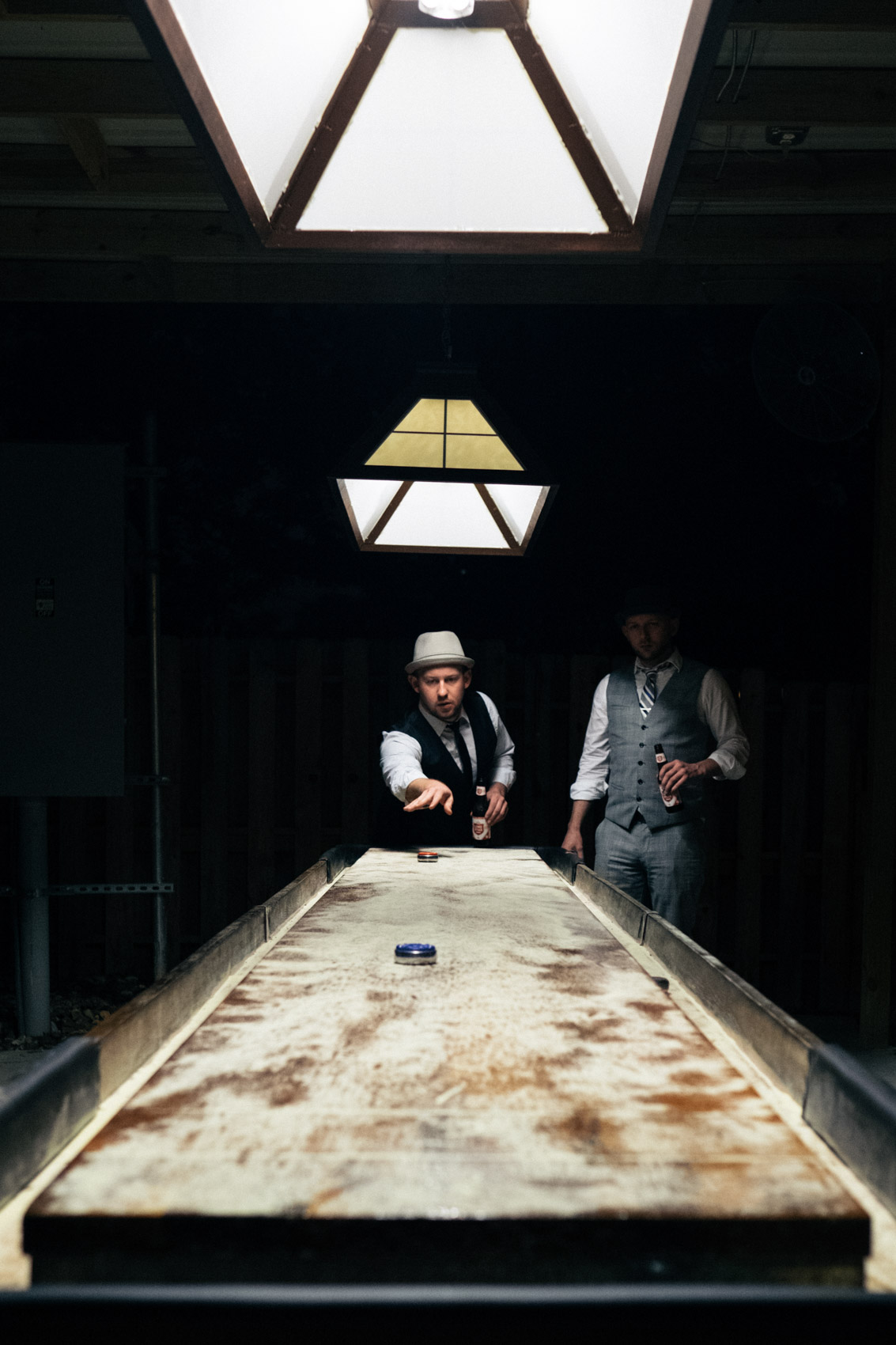 Shuffleboard at C-Boys
